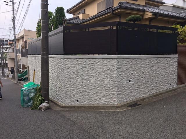 擁壁塗装工事