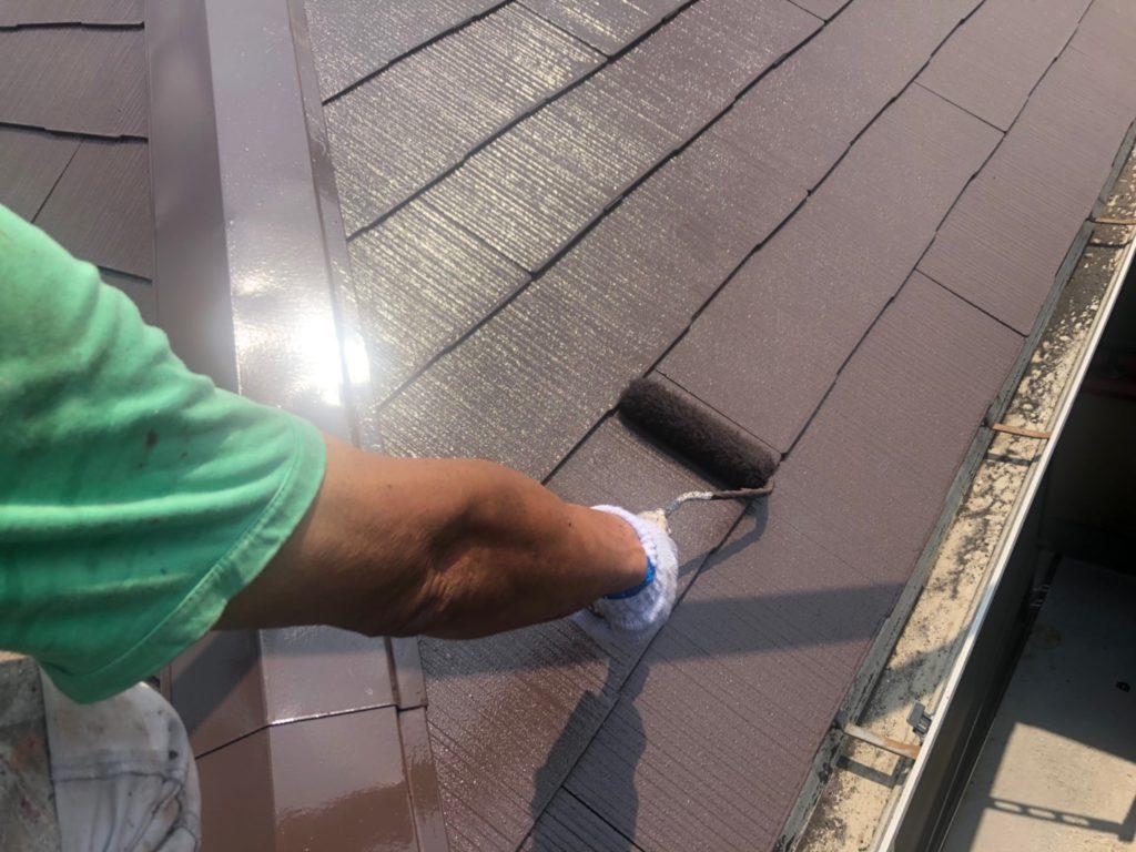 屋根 上塗り(2回目)