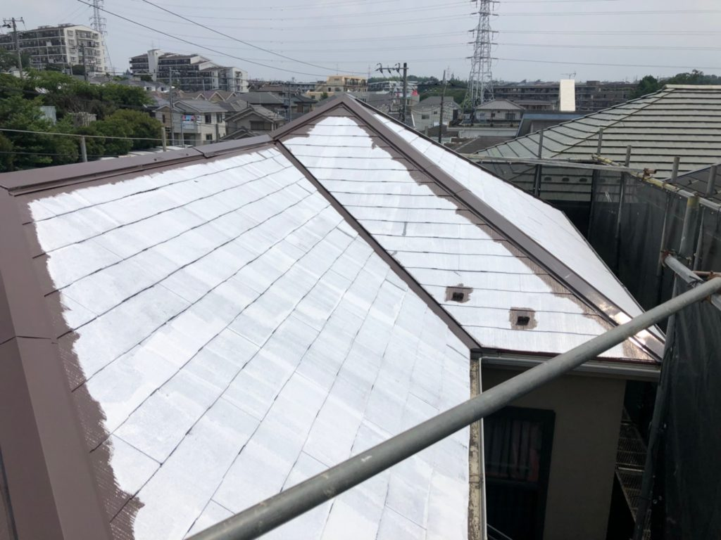 屋根 上塗り(1回目)