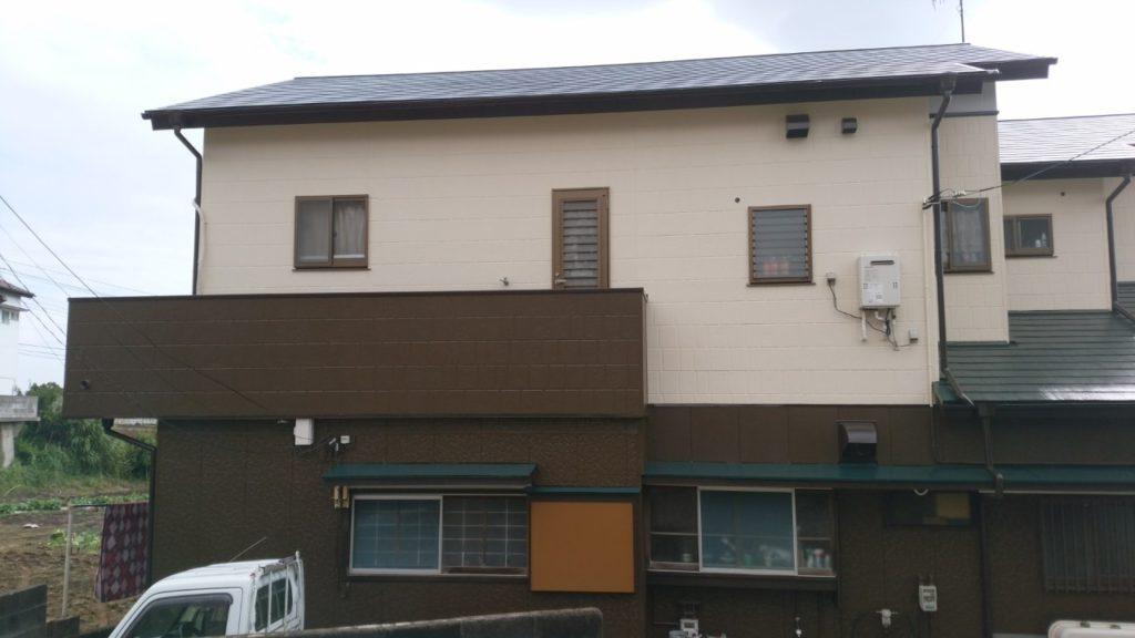 外壁塗装完了後の写真です。