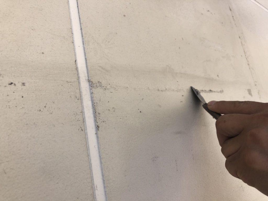 外壁塗装工事の施工写真です。