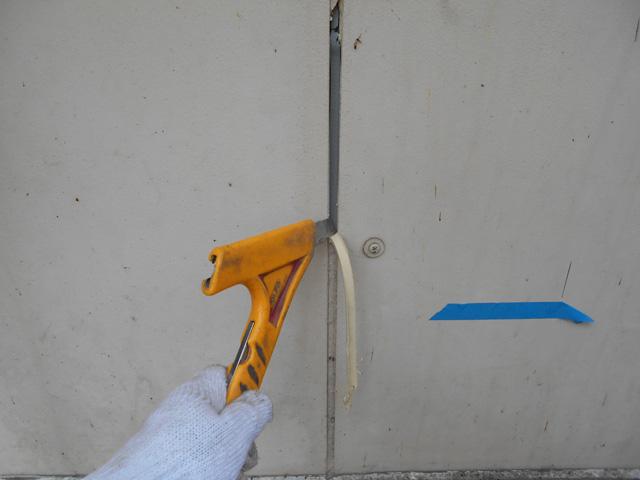 シーリング工事の施工写真です。