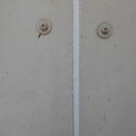 門柱塗装後、新規テントシートを張り替えて竣工となります。