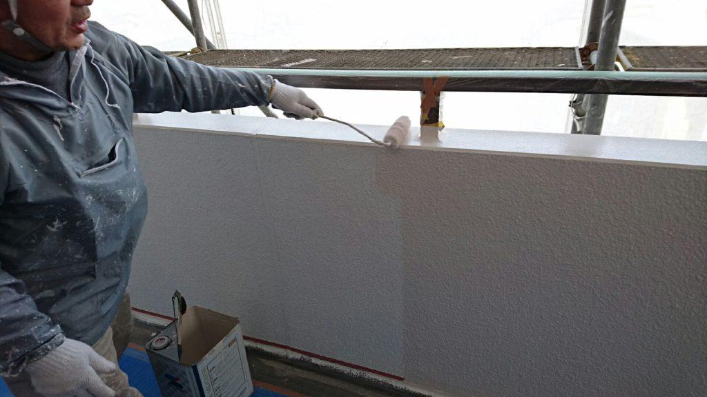外壁の塗装工事です。