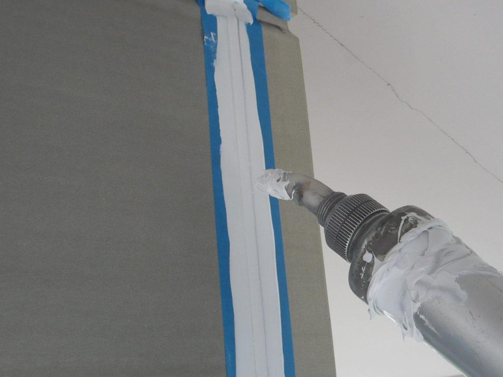 外壁部 シーリング充填の施工写真です。