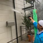 擁壁部 撥水材塗布の施工写真です。