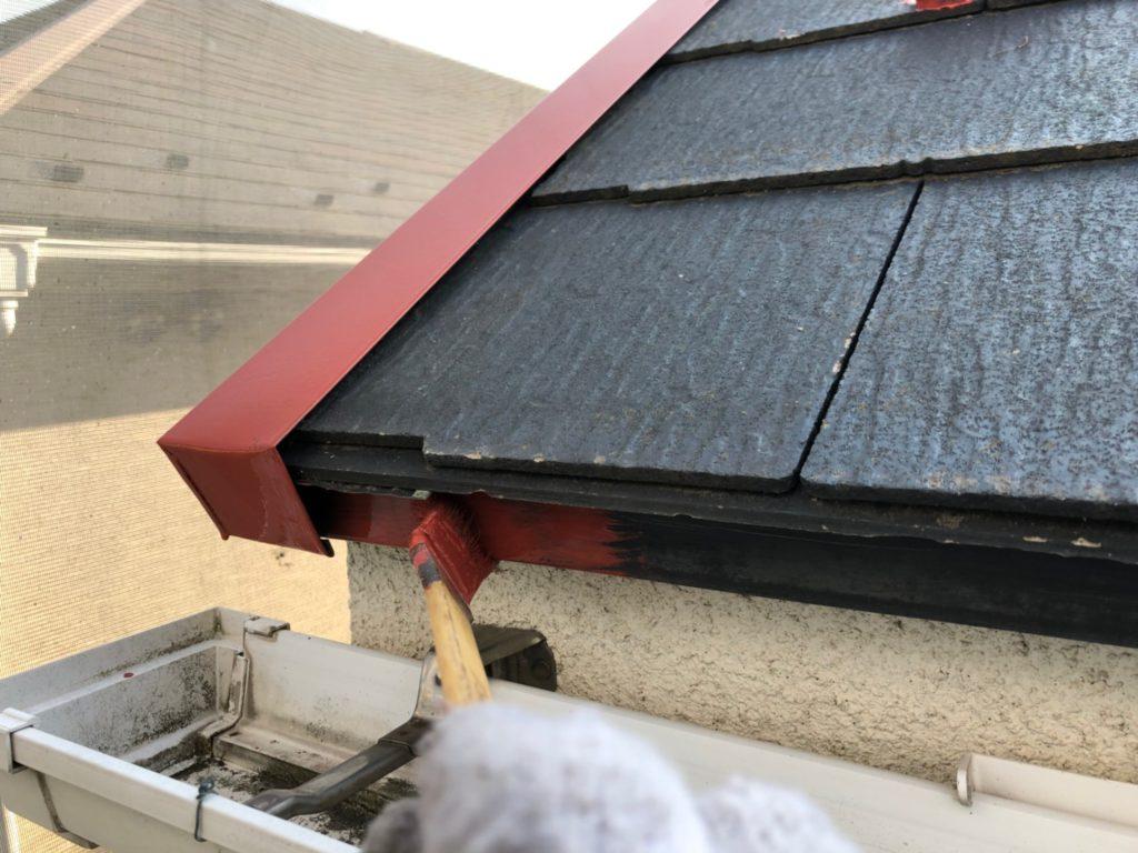屋根 鋼板部錆止め