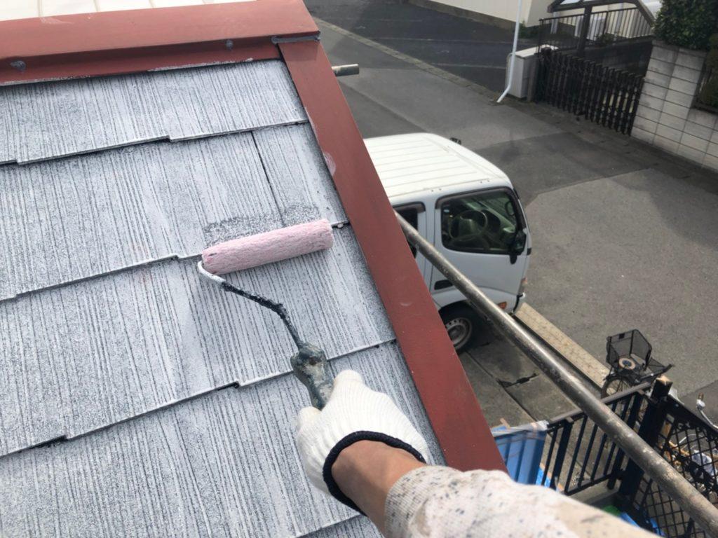 屋根面 下塗りシーラー塗装