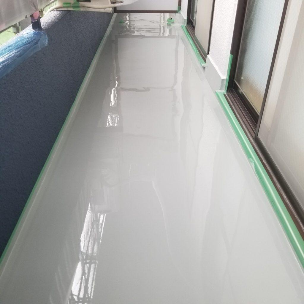 床面防水 防水材流し込み