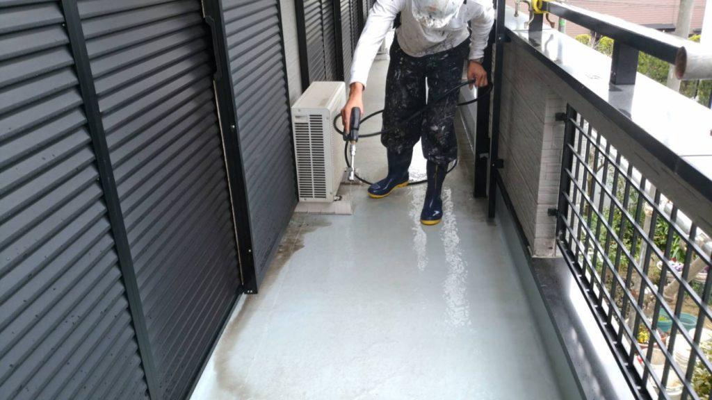 床防水面 高圧洗浄