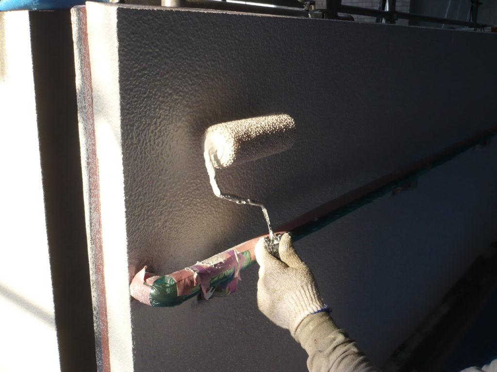 壁面 下塗り材塗装 厚付け工法マスチック