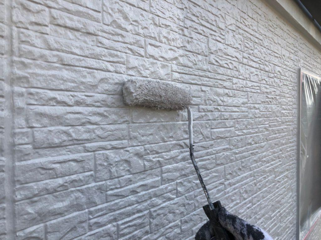 外壁部 ホワイト 仕上げ塗り