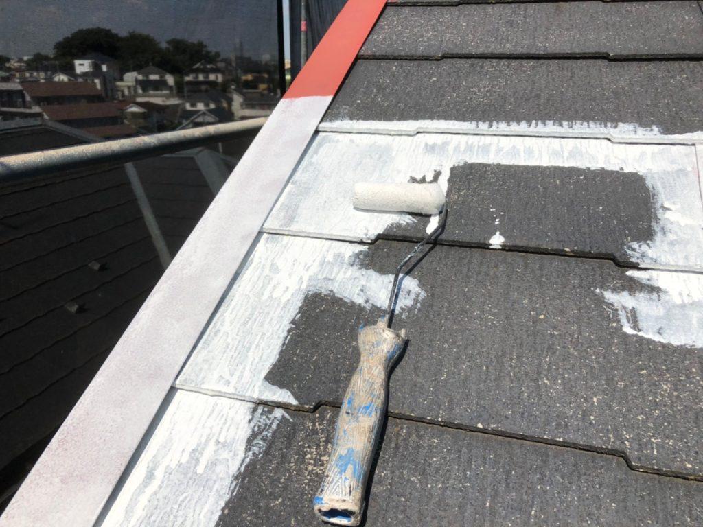 屋根 プライマー塗り