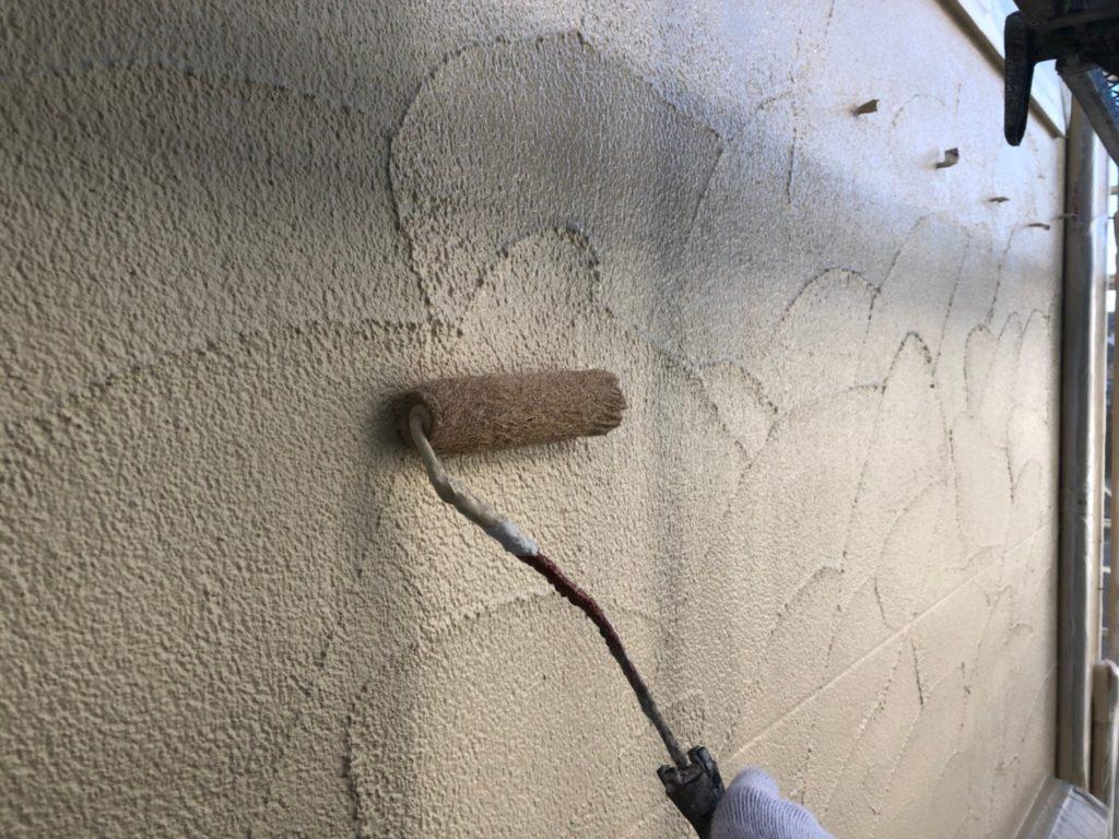 外壁部仕上げ材塗布(2回目)