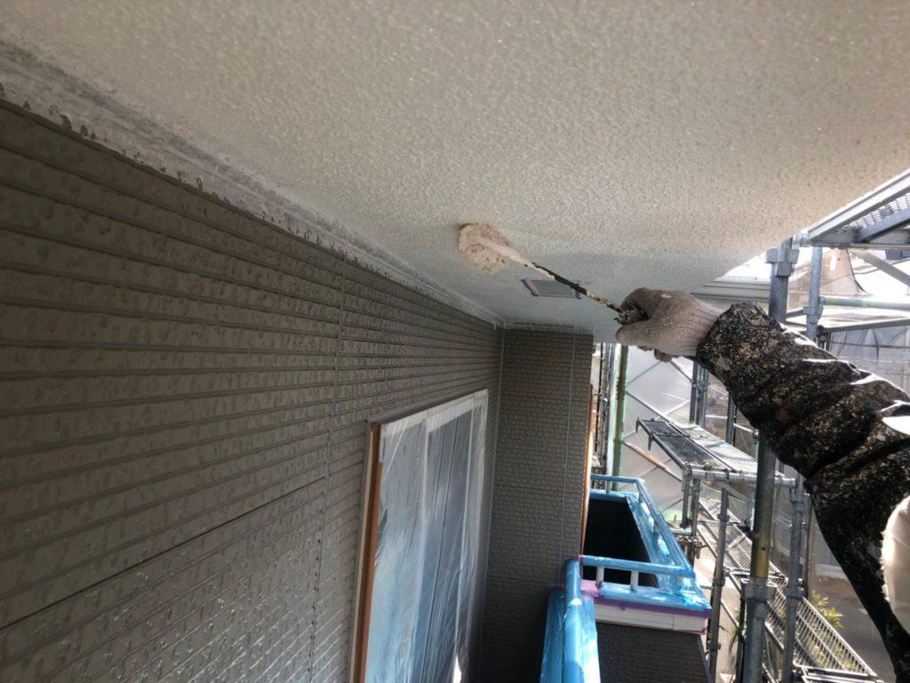 外壁軒天部分塗り替え