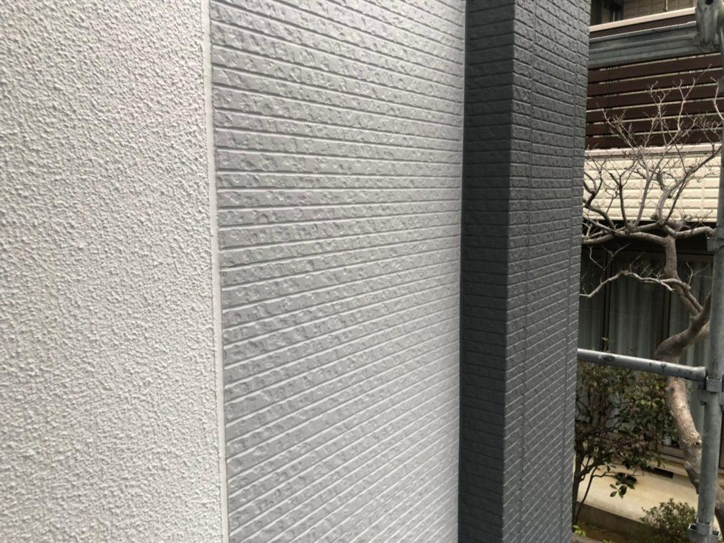 外壁部仕上がり