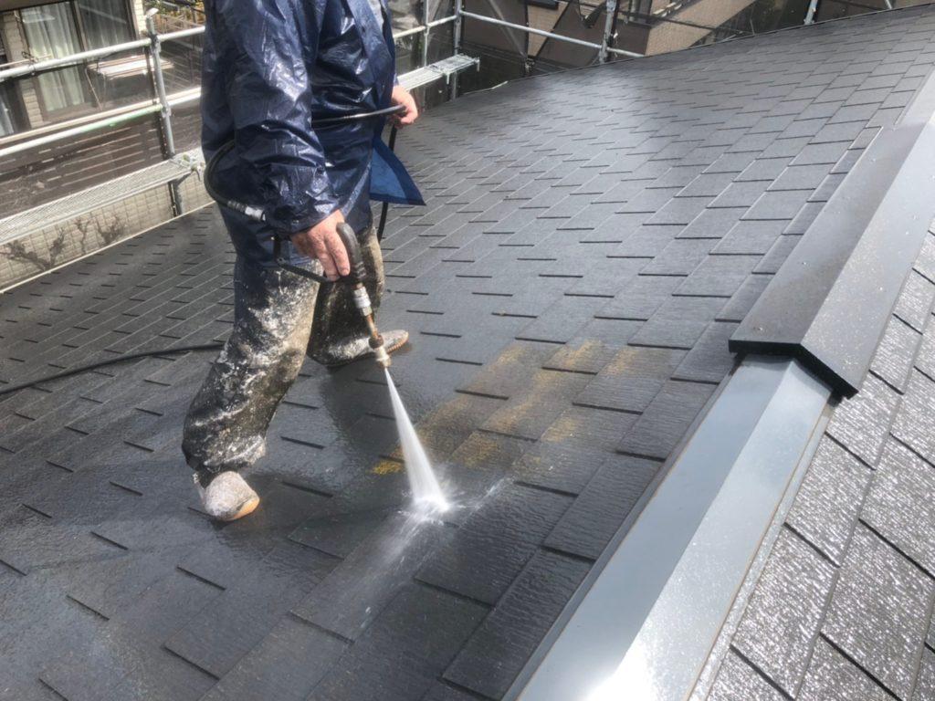 屋根部高圧洗浄