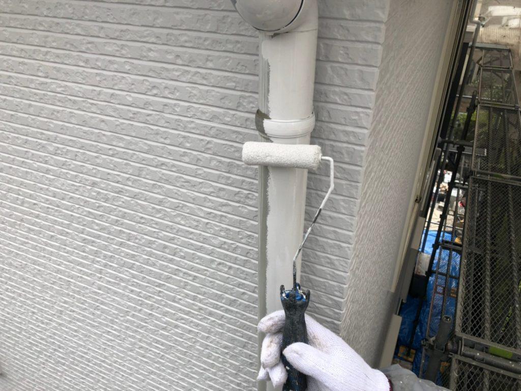 竪樋部塗装