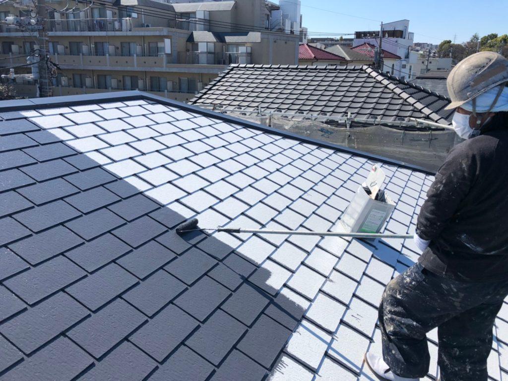 屋根部塗り替え